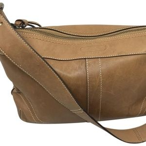 COACH M Brown Pure Leather Shoulder Bag